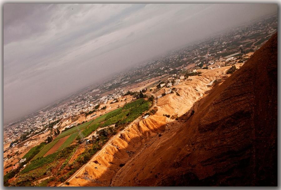 Израиль.Вид на Иерихон с горы Искушения