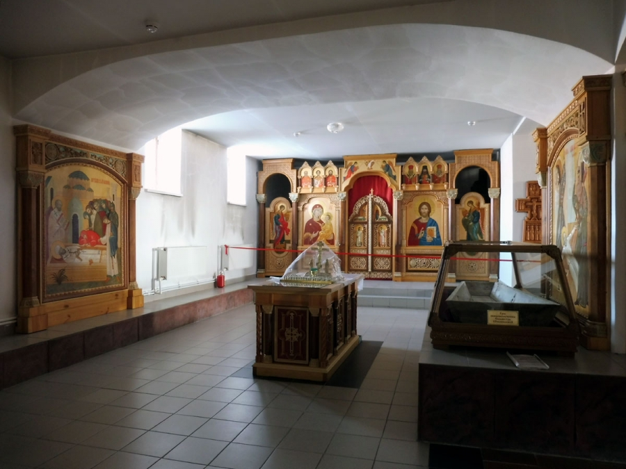 В нижнем приделе собора Успения Пресвятой Богородицы. Ачаирский Крестовый м