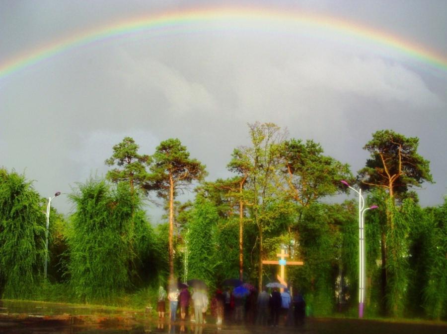 Небесный купол храма Святой Живоначальн