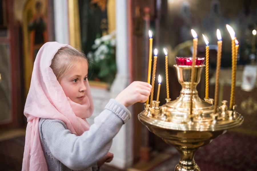 На богослужении в праздник Рождества Христова