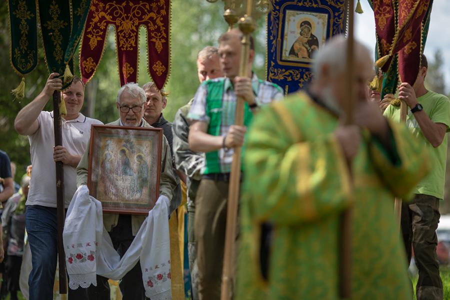Крестный ход на Троицу
