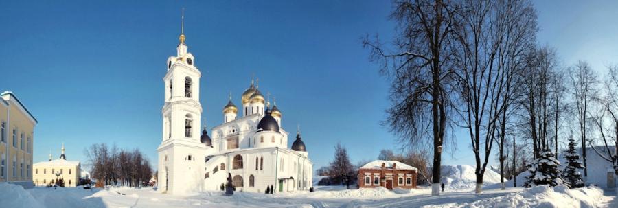 Историческая площадь в Дмитрове.