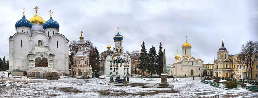 В Троицко-Сергиевой Лавре.