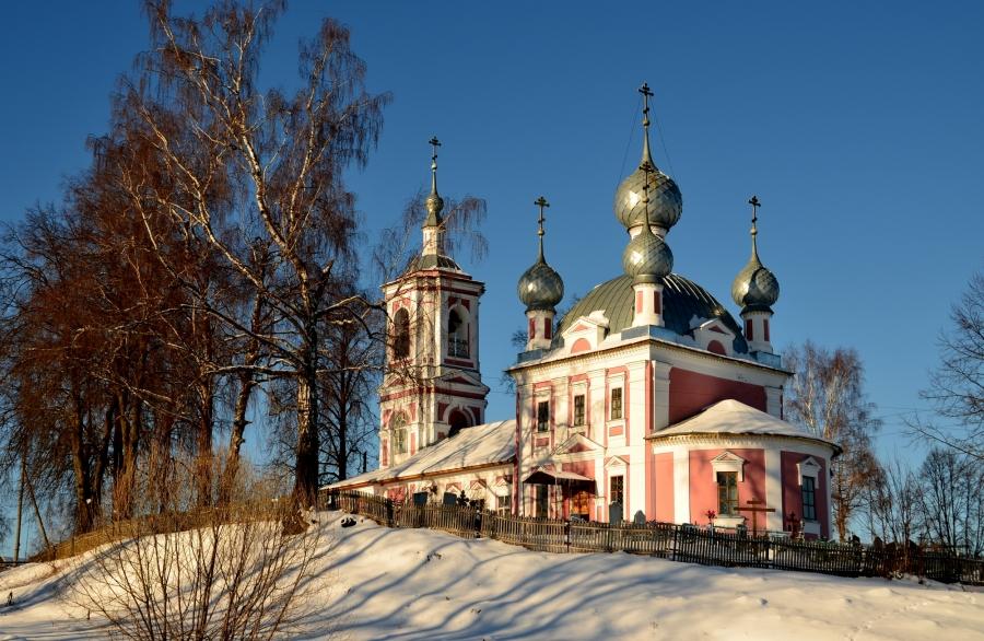 Храм Андрея Стратилата, с. Андреевское на Лиге Ярославской обл.
