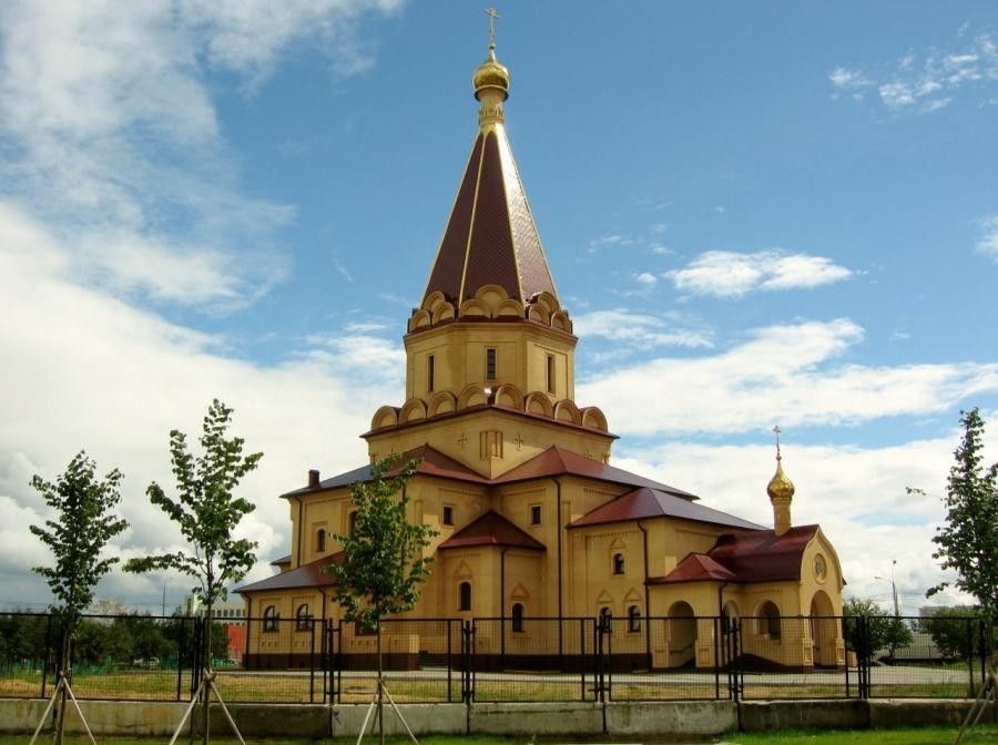 Новый православный Храм в Братеево(Москва)