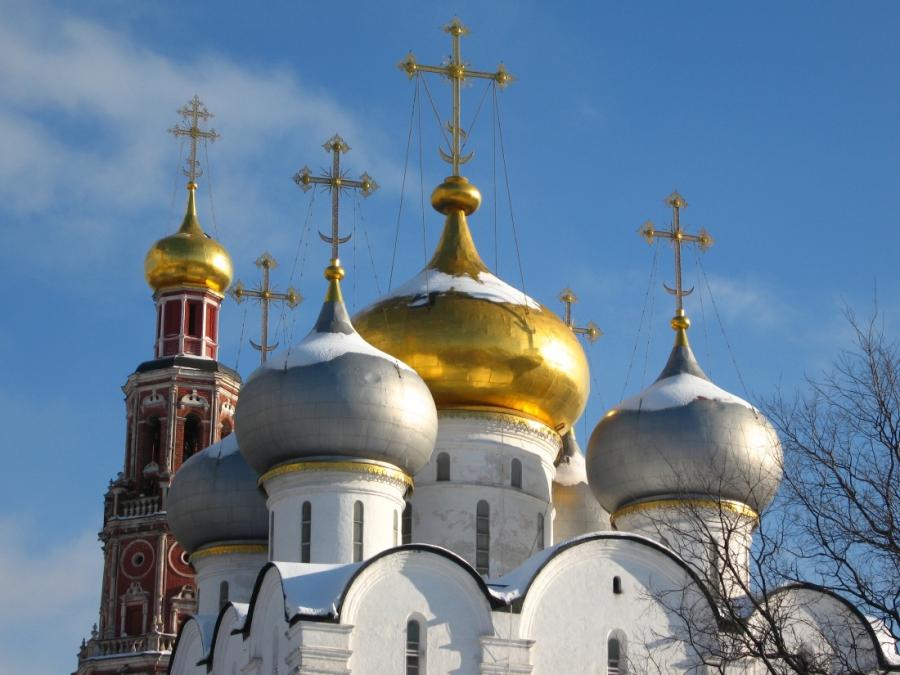 Купола Новодевичьего монастыря