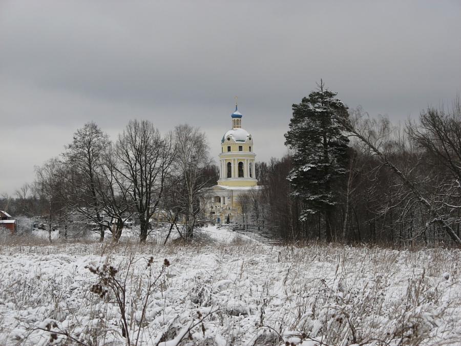 Зимний Никольский храм. Гребнево.