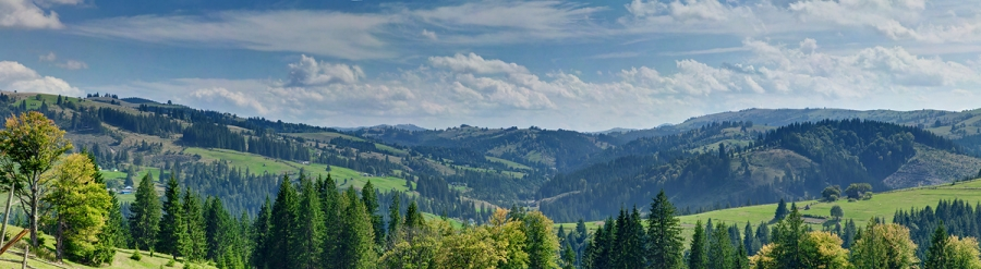Панорам Карпатских гор