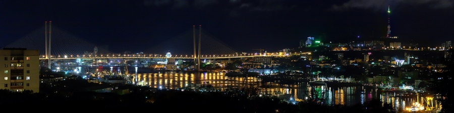 Владивосток ночью