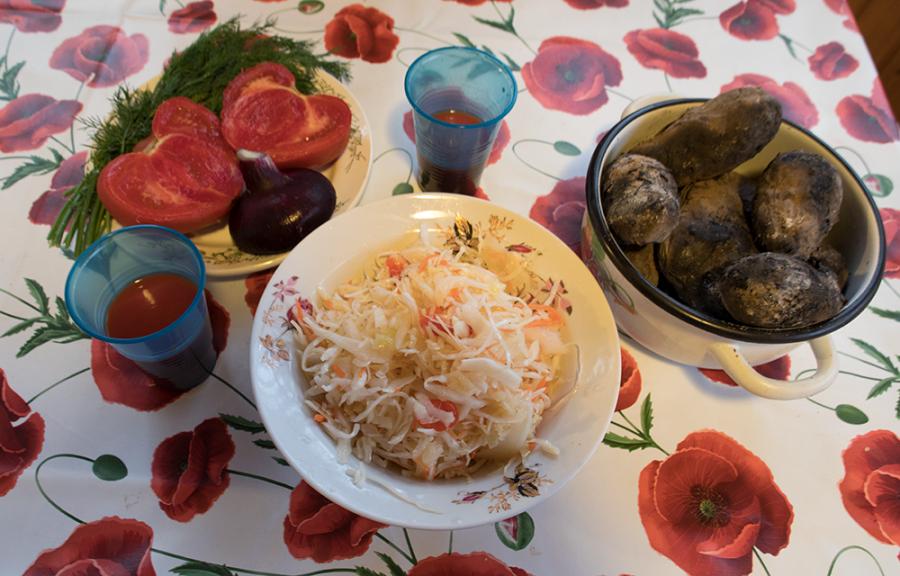 Постный, дачный ужин
